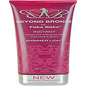 FakeBake FakeBake Beyond Bronze Instant Wash Off Premium Tan For Face & Body 125ml Shimmer Light