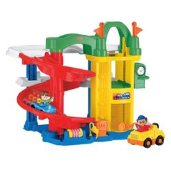 Fisher-Price Little People Racin' Ramps Garage Playset