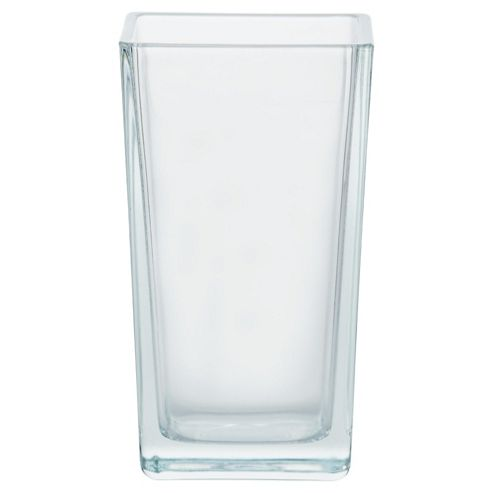 Tesco glass tank vase 18cm