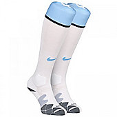2013-14 Man City Home Nike Football Socks (White) - White