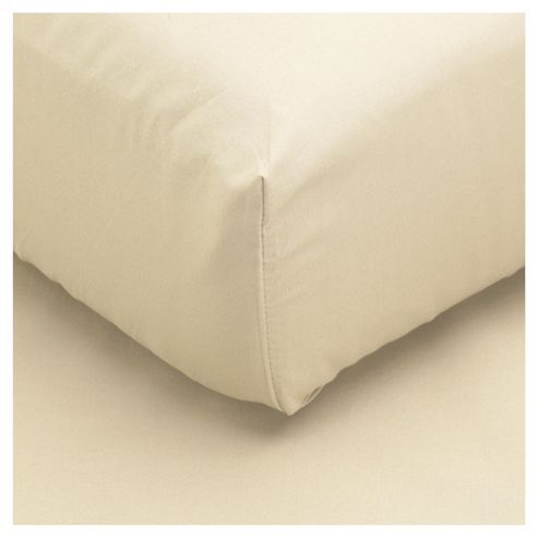 Tesco Double Fitted Sheet, Cream