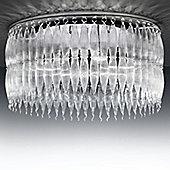 Metal Lux Arena Flush Light - Crystal
