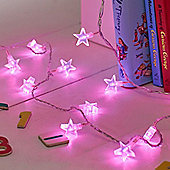 30 Pink LED Star Indoor Fairy Lights