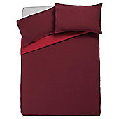 Tesco Reversible Duvet Set King, Red & Dark Red