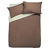 Tesco Reversible Duvet Cover Set Double, Light & Dark Natural