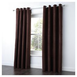Tesco Faux Suede Unlined Eyelet Curtains W168xL183cm (66x72