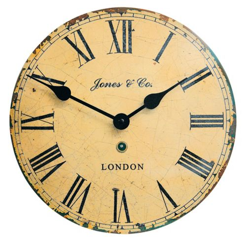 buy jones co tin convex wall clock from our clocks range. Black Bedroom Furniture Sets. Home Design Ideas