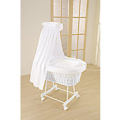 Leipold Topaz Wicker Drape Crib in White