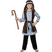 Child Shepherd Nativity Costume With Staff Medium