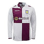 2013-14 Aston Villa Away Long Sleeve Football Shirt - White