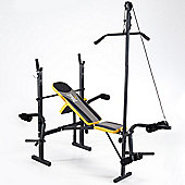 Everlast Starter Weight Bench with Lat Pulldown, Preacher Pad, Pec Dec Arms and Leg Developer