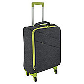 Tesco 4-Wheel Small Grey with Lime Green Trim Suitcase