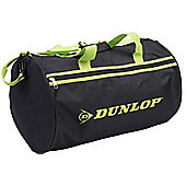 Dunlop Black with Green Straps Training Sports Holdall Gym Travel Kit Small Bag