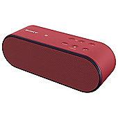 Sony SRSX2 Red Wireless Speaker Bluetooth / NFC