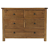 Thorndon Eden 4 Over 1 Drawer Chest in Warm Oak