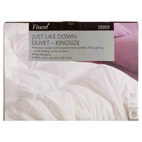 Finest Cotton Just Like Down Kingsize Duvet 10.5 Tog