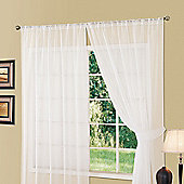 "Dreamscene Slot Top Voile Net Curtain Panel, White - 59"" x 54"" (150x137cm)"