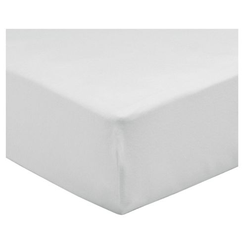 Tesco King Size Fitted Sheet, White