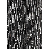 Angelo Star Black Skin Rug - 240cm x 170cm (7 ft 10.5 in x 5 ft 7 in)
