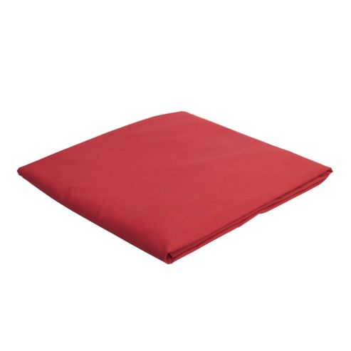 Tesco Single Fitted Sheet, Dark Red