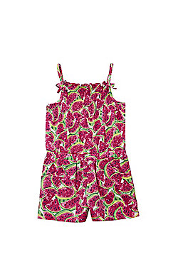 F&F Watermelon Print Playsuit - Pink
