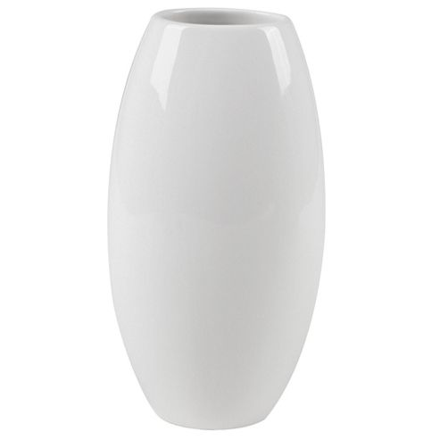 Tesco Ceramic Barrel Vase Cream