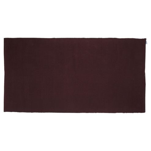 Tesco Value Cotton Rug Chocolate 80X150Cm