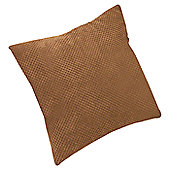 Dreams N Drapes Curtina Chenille Spot Cushion - Chocolate - No