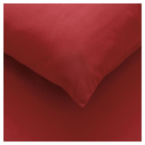 Tesco Double Fitted Sheet, Dark Red
