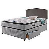 Sealy Pillowtop Double 4 Drawer Divan Charcoal