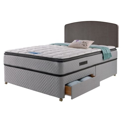 Buy Sealy Pillowtop 4 Drawer Divan Charcoal From Our All