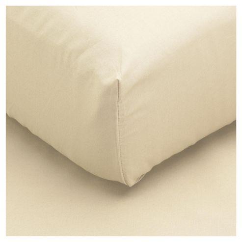 Tesco Single Fitted Sheet, Cream