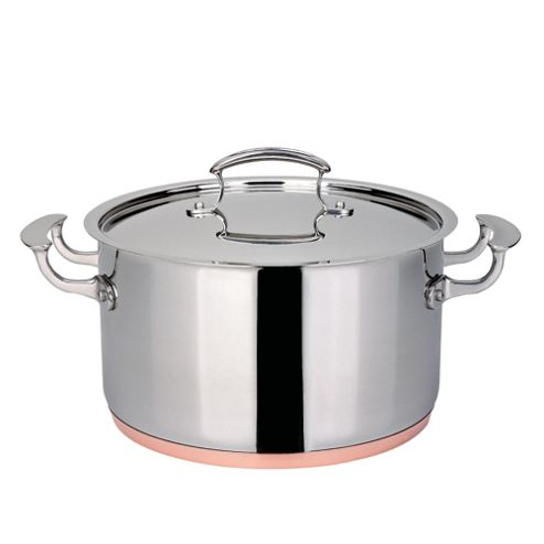 Professional Go Cook Copper Base Stockpot 24cm