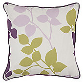 Tesco Set Of Two Bold Leaf Cushion Covers Plum/Olive