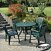 Nardi Toscana Round 4 Seater Dining Set with Diana Chairs - Green