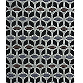 Think Rugs Fusion Black/Grey Tufted Rug - 150 cm x 230 cm (4 ft 11 in x 7 ft 7 in)