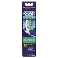 Oral-B Dual Clean Twin Pack Refill Heads