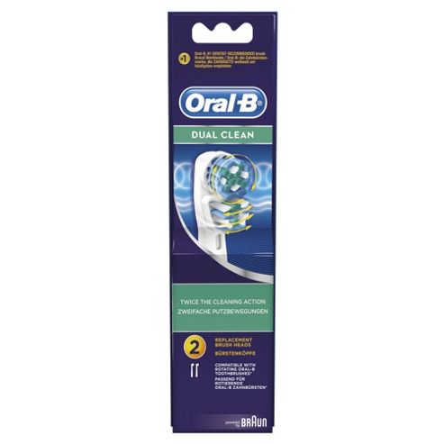 OralB Dual Clean Twin Pack Refill Heads