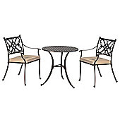 All Home Springhurst Round 2 Seater Bistro Set with Cushions