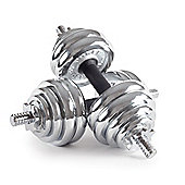 Body Power 30kg Chrome Spinlock Dumbbell Set