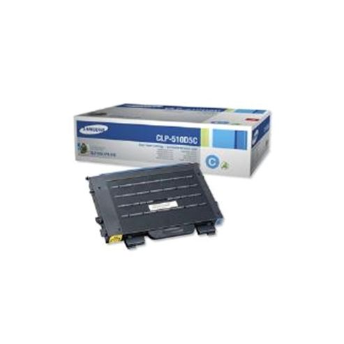 Samsung CLP-510D5C Cyan (Yield 5,000 Pages) Toner Cartridge for CLP-510 Laser Printers
