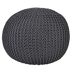 Kaikoo Lightweight Knitted Pouffe, Grey