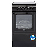 Indesit Electric Cooker, I5VSHK, Black