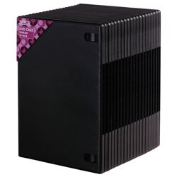 Tesco Black Slimline Case  for  20 CDs / DVDs
