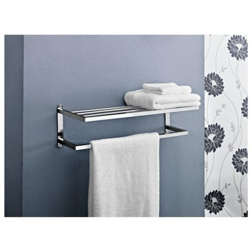 Lincoln Chrome 2 Tier Wall Rack Square Tube