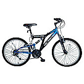 "Vertigo Rockface 24"" Dual Suspension Kids' Mountain Bike - Boys"
