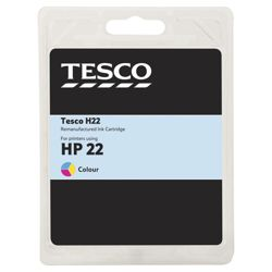 Tesco H180 remanufactured Colour Printer Ink Cartridge (Compatible with printers using HP 22 Cartridge)
