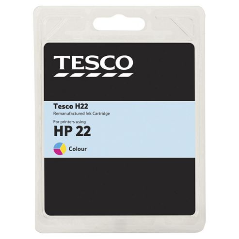 Tesco H180 Colour Printer Ink Cartridge (Compatible with printers using HP 22 Cartridge)