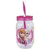 Disney Frozen Elsa and Anna Canning Jar Tumbler