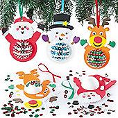 Christmas Character Sequin Decoration Kits (3 Pcs)